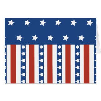 愛国心が強い星のストライプな自由の旗7月第4 カード