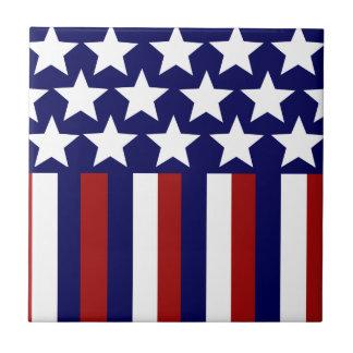 愛国心が強い星のストライプな自由の旗7月第4 タイル