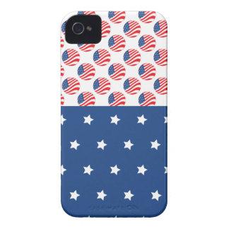 愛国心が強い星のストライプな自由の旗7月第4 Case-Mate iPhone 4 ケース