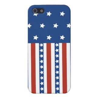 愛国心が強い星のストライプな自由の旗7月第4 iPhone SE/5/5sケース