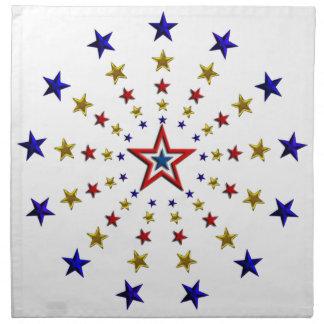 愛国心が強い星のパターン ナプキンクロス
