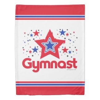 愛国心が強い星の体操の女の子 掛け布団カバー