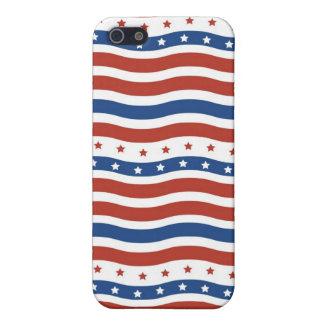 愛国心が強い星の7月のストライプな自由の旗の四分の一 iPhone 5 カバー
