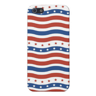 愛国心が強い星の7月のストライプな自由の旗の四分の一 iPhone SE/5/5sケース