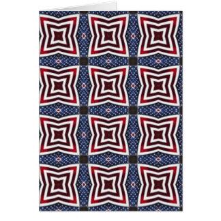 愛国心が強い星条旗の万華鏡のように千変万化するパターン カード