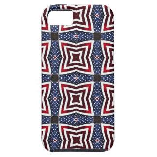 愛国心が強い星条旗の万華鏡のように千変万化するパターン iPhone SE/5/5s ケース