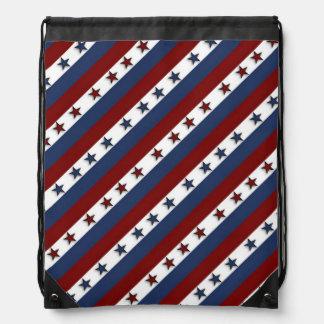 愛国心が強い星条旗 ナップサック