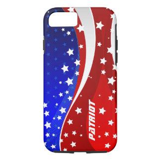 愛国心が強い星条旗-米国の独立記念日 iPhone 8/7ケース