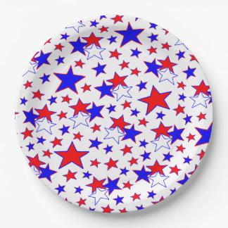 愛国心が強い星 ペーパープレート
