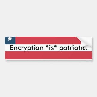 愛国心が強い暗号化の*is* バンパーステッカー