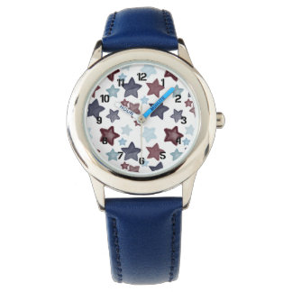 愛国心が強い水彩画の星 腕時計