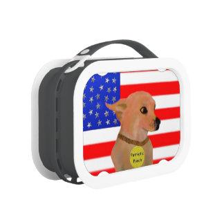 愛国心が強い犬 ランチボックス