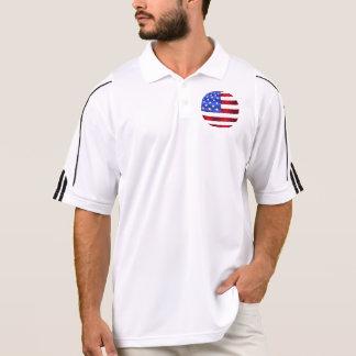 愛国心が強い男性アディダスのゴルフClimaLite®のポロシャツ ポロシャツ