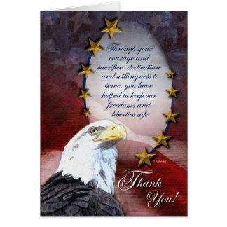 愛国心が強い白頭鷲のサンキューカード カード