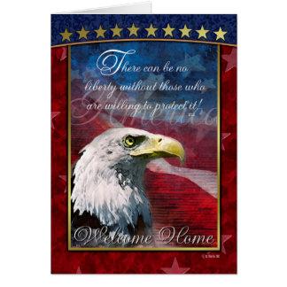 愛国心が強い白頭鷲の歓迎の家の挨拶状 カード