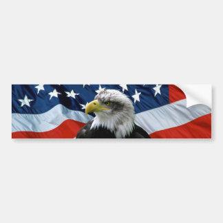 愛国心が強い白頭鷲の米国旗のバンパーステッカー バンパーステッカー