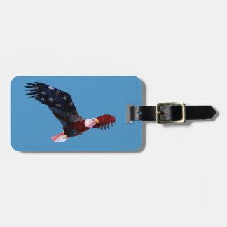 愛国心が強い白頭鷲の米国旗 ラゲッジタグ
