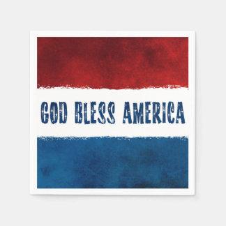 愛国心が強い神はアメリカの紙ナプキンを賛美します スタンダードカクテルナプキン