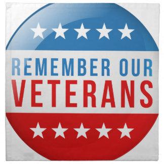 愛国心が強い私達の復員軍人の日の赤い青旗賞を覚えて下さい ナプキンクロス