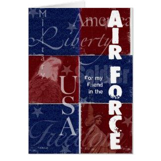 愛国心が強い空軍軍隊サポート-友人 カード