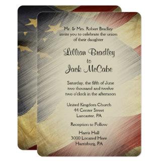 愛国心が強い米国の旗の結婚式招待状 カード