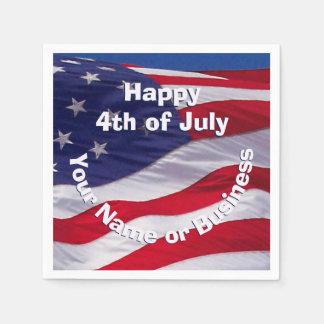 愛国心が強い米国の旗の習慣 スタンダードカクテルナプキン