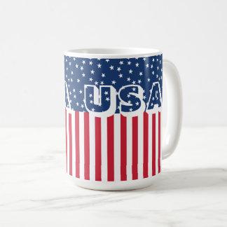 愛国心が強い米国の星条旗の米国旗第4 コーヒーマグカップ