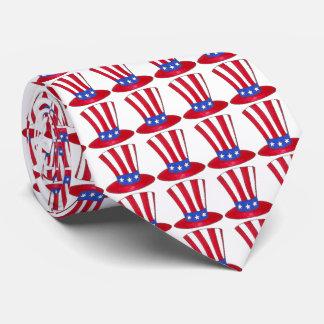 愛国心が強い米国の米国市民帽子の7月第4の第4タイ ネクタイ