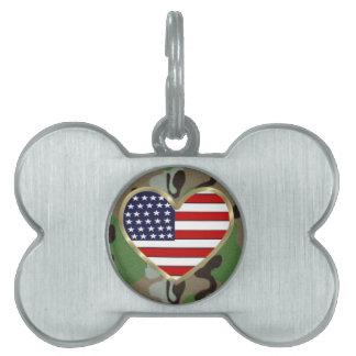 愛国心が強い米国の迷彩柄 ペットネームタグ