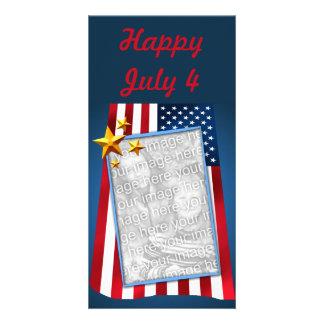 愛国心が強い米国旗のカスタマイズ可能な写真カード カード