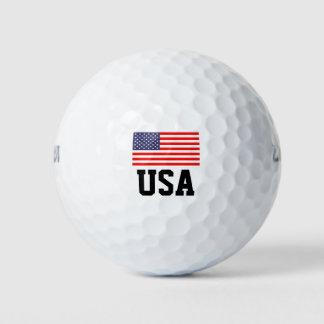 愛国心が強い米国旗のゴルフ・ボールは|米国のプライドを置きました ゴルフボール