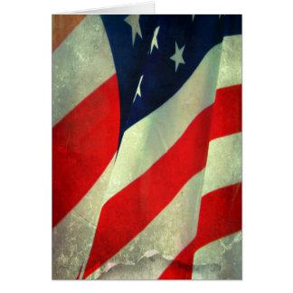愛国心が強い米国旗のノート カード