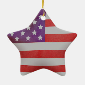 愛国心が強い米国旗の星 セラミックオーナメント