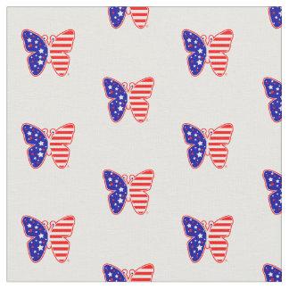 愛国心が強い米国旗の蝶 ファブリック