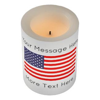 愛国心が強い米国旗の7月4日LEDの蝋燭ライト LEDキャンドル