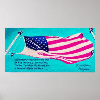 愛国心が強い米国旗ポスター ポスター