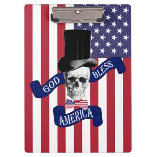 愛国心が強い米国旗 クリップボード