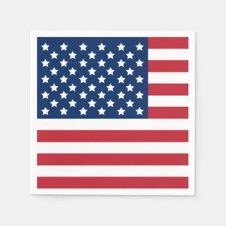 愛国心が強い米国旗  スタンダードカクテルナプキン
