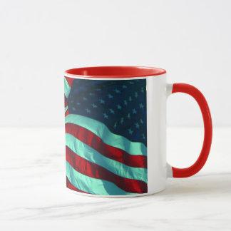 愛国心が強い米国旗 マグカップ