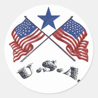 愛国心が強い米国 ラウンドシール