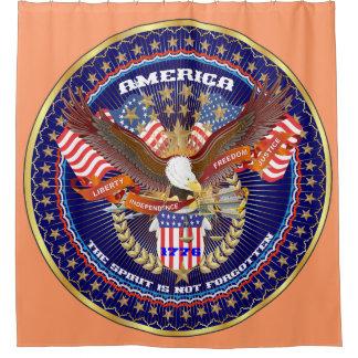 愛国心が強い精神のシャワー・カーテンのモモ シャワーカーテン