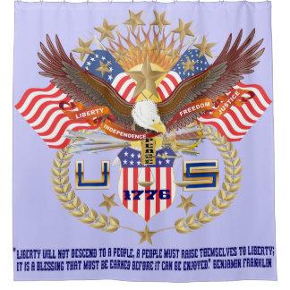 愛国心が強い精神のシャワー・カーテンの平和 シャワーカーテン