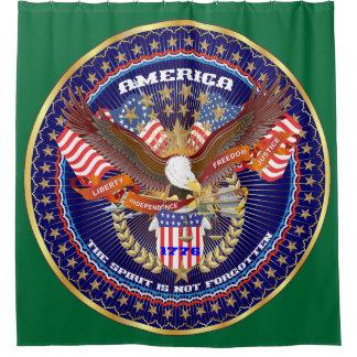 愛国心が強い精神のシャワー・カーテンの緑の森林 シャワーカーテン