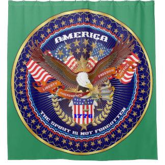 愛国心が強い精神のシャワー・カーテンの緑ケンタッキー シャワーカーテン