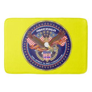 愛国心が強い精神のバス・マットの黄色 バスマット