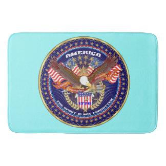 愛国心が強い精神のバス・マット色の淡青色 バスマット