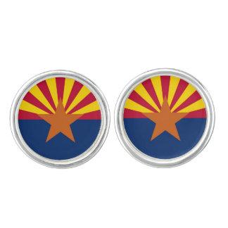 愛国心が強い組のアリゾナの旗が付いているカフスボタン カフスリンク
