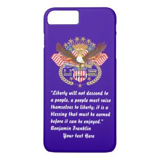 愛国心が強い自由の平和嵐の青 iPhone 8 PLUS/7 PLUSケース