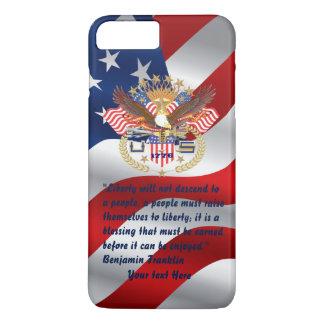 愛国心が強い自由の平和旗 iPhone 8 PLUS/7 PLUSケース