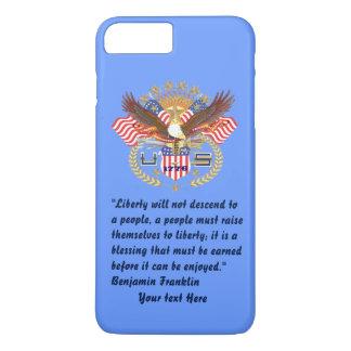 愛国心が強い自由の平和空色 iPhone 8 PLUS/7 PLUSケース